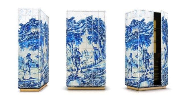 12 kafelki azulejos gallo rooster portugal portuguese design portugalskie meble boca do lobo projektowanie wnetrz interior design