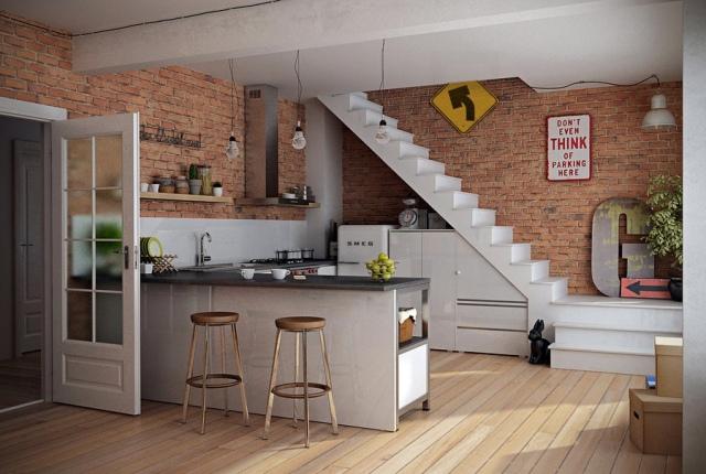 13 Kitchen open to living room kuchnia otwarta na pokoj projektowanie wnetrz interior design