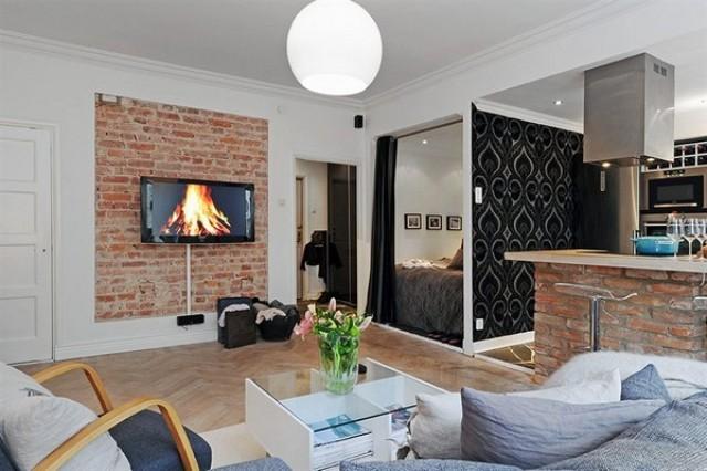 2 Kitchen open to living room kuchnia otwarta na pokoj projektowanie wnetrz interior design