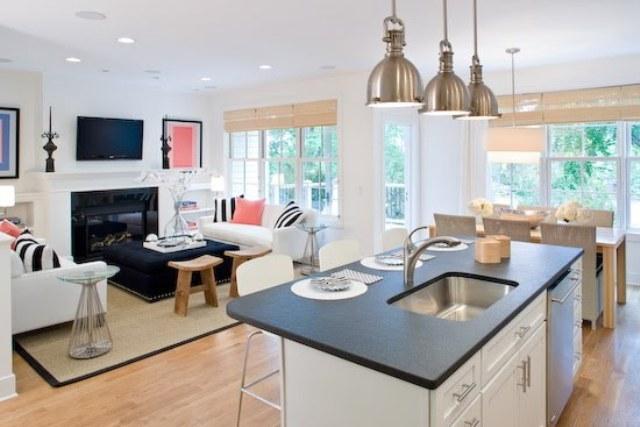 8 Kitchen open to living room kuchnia otwarta na pokoj projektowanie wnetrz interior design