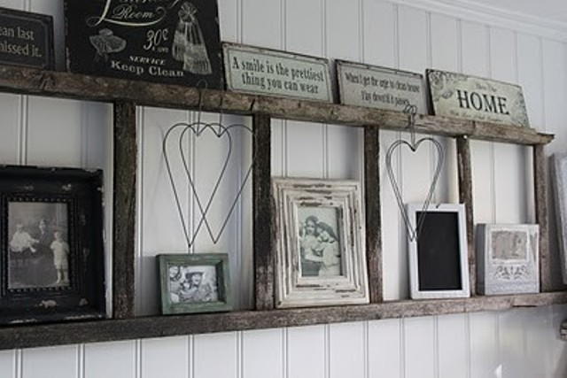 19_ramki_handmade_picture_frames_regal_z_drabiny_stara_drabina_we_wnetrzu_shabby_ladder_ideas_upcycled_ladder_bookshelf_reused_ladder_diy_decorating interior design projektowanie wnetrz p