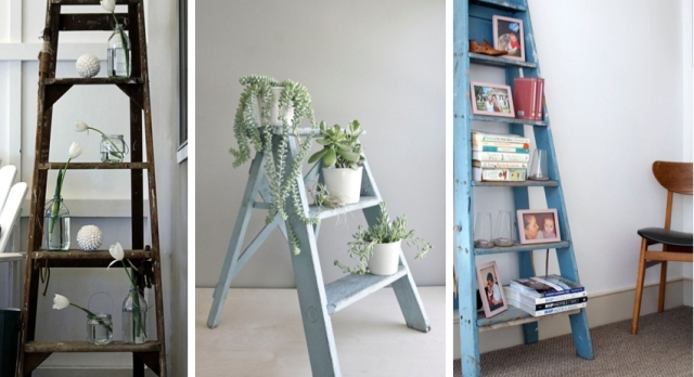 2_living_room_pokoj_regal_z_drabiny_stara_drabina_we_wnetrzu_shabby_ladder_ideas_upcycled_ladder_bookshelf_reused_ladder_diy_decorating interior design projektowanie wnetrz pomysly