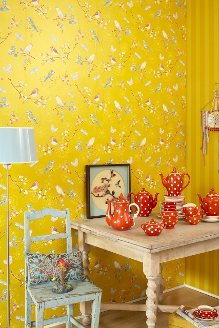 4_PiP_Studio interior design colorful room wallpaper kolorowe wnetrze tapeta w kwiaty