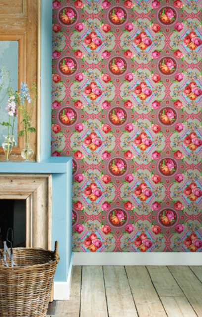 6_PiP_Studio interior design colorful room wallpaper kolorowe wnetrze tapeta w kwiaty