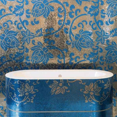 19 bathtub bathroom _mosaic tiles sicis interior design history projektowanie wnetrz mozaika luksusowe kafelki