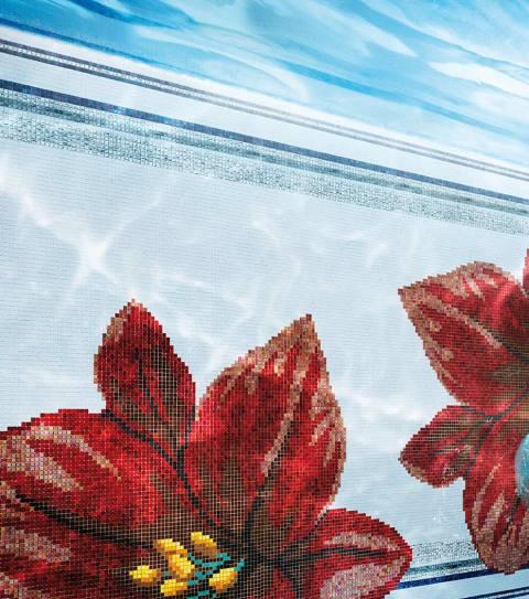 26_Mediterranea_Mosaic_Collection_Atene_Red bathroom _mosaic tiles sicis interior design history projektowanie wnetrz mozaika luksusowe kafelki