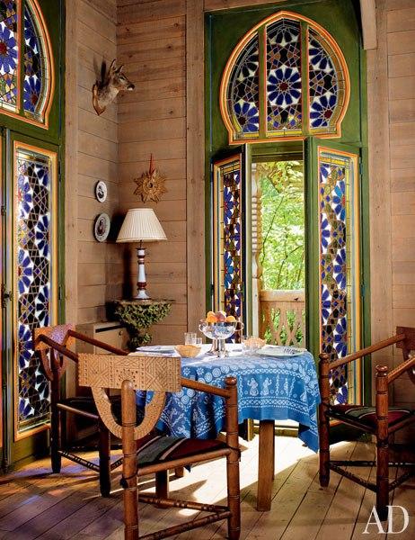 4 pierre berge la dacha normandy log house rustic home decor russian architecture  moroccan windows eastern rugs salon