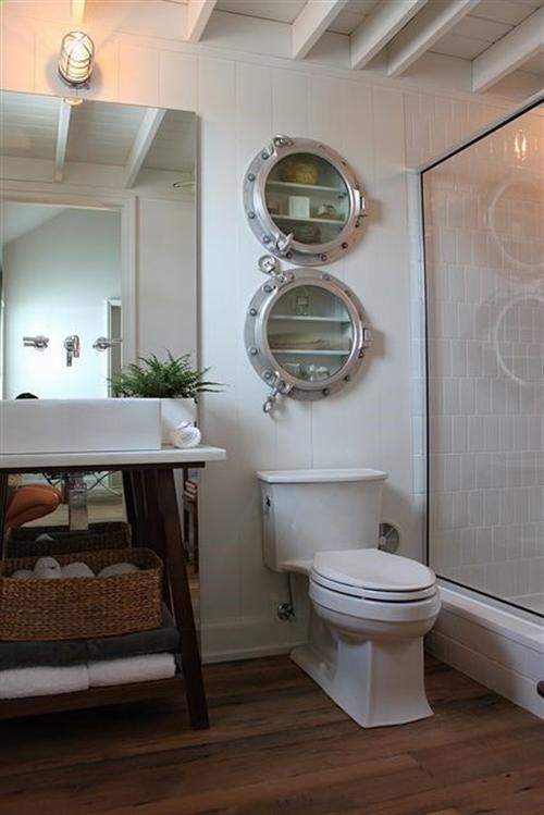 10 nautical interior seaside home style styl morski marynistyczny dom nad morzem blue red white trzy kolory niebieski bialy czerwony aranzacja wnetrz interior design marine bathroom