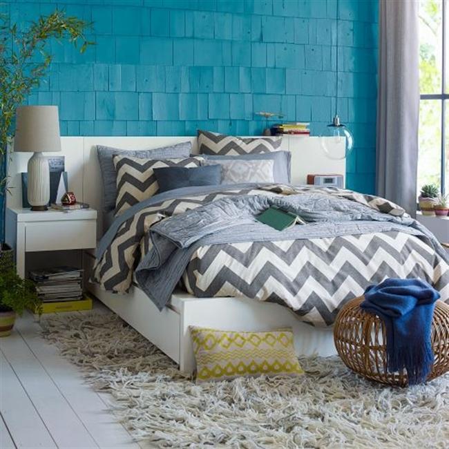 14 nautical interior seaside home style styl morski marynistyczny dom nad morzem blue red white trzy kolory niebieski bialy czerwony aranzacja wnetrz interior design marine bedroom