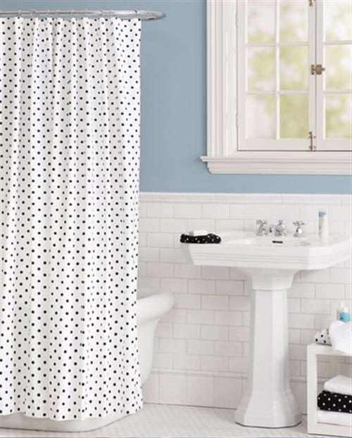 16 black and white polka dots home decoration interior design spotted ideas kropki we wnetrzu bialo czarne groszki w domu lazienka w kropki spotted bathroom