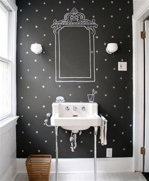 17 black and white polka dots home decoration interior design spotted ideas kropki we wnetrzu bialo czarne groszki w domu lazienka w kropki spotted bathroom