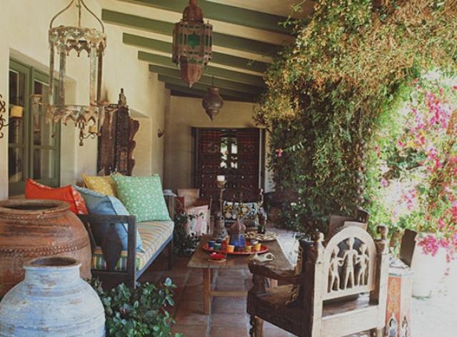 1 hacienda horse ranch kathryn ireland santa fe mexican rustic style styl meksykanski rustykalny dom w kalifornii california retreat interior design projektowanie