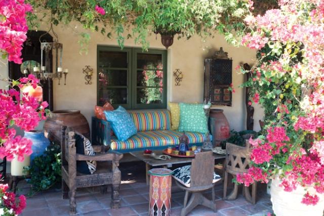 1a hacienda horse ranch kathryn ireland santa fe mexican rustic style styl meksykanski rustykalny dom w kalifornii california retreat interior design projektowanie