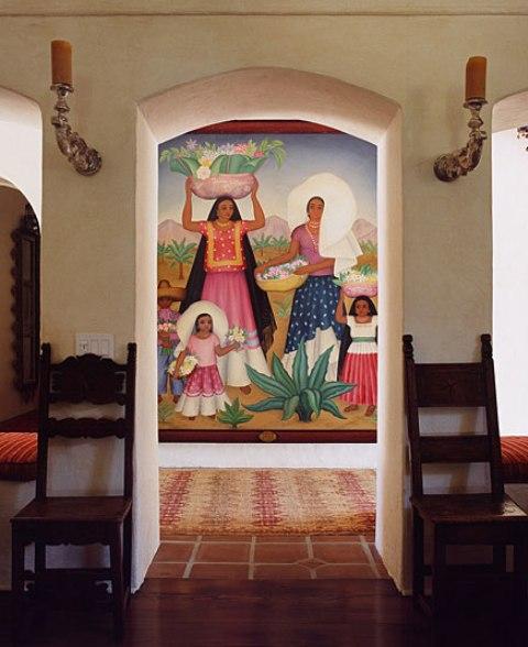 2 hacienda horse ranch kathryn ireland santa fe mexican rustic style styl meksykanski rustykalny dom w kalifornii california retreat interior design projektowanie