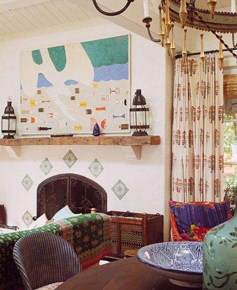 8 hacienda horse ranch kathryn ireland santa fe mexican rustic style styl meksykanski rustykalny dom w kalifornii california retreat interior design projektowanie