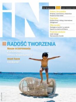 okladka cover iN Magazyn 7-8 najciekawsze najlepsze blogi wnetrzarskie o projektowaniu wnetrz o designie the best most interesting blogs on interiors and design