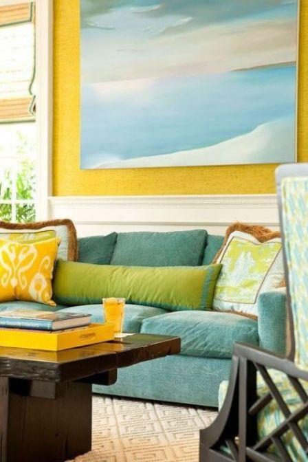 1 letnia aranzacja mieszkania pokoj kuchnia sypialnia taras summer apartment ideas bedroom living room kitchen porch headboard interior design aranzacja wnetrz
