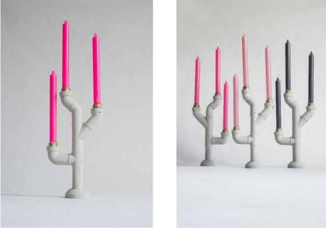 3 concrete candleholder betonowy swiecznik  merel bekking mr fahrenheit minimalist design minimalizm beton w domu concrete home decor dutch designer holenderski design