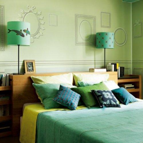 4 conceptuwall living room kitchen bedroom hall colorful apartment kolorowe mieszkanie kuchnia sypialnia marie claire maison french interior design projektowanie wnetrz niezwykle sciany i tapety francja