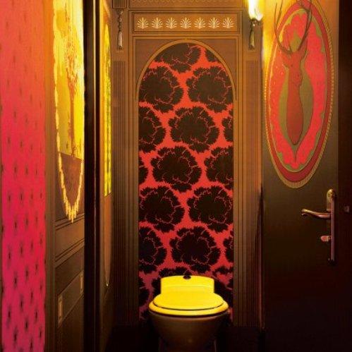 5 conceptuwall living room kitchen bedroom hall colorful apartment kolorowe mieszkanie kuchnia sypialnia marie claire maison french interior design projektowanie wnetrz niezwykle sciany i tapety francja'