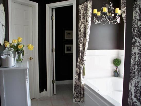 12 black flowers wall decoration interior design czarne kwiaty sciana naklejka tapeta projektowanie wnetrz