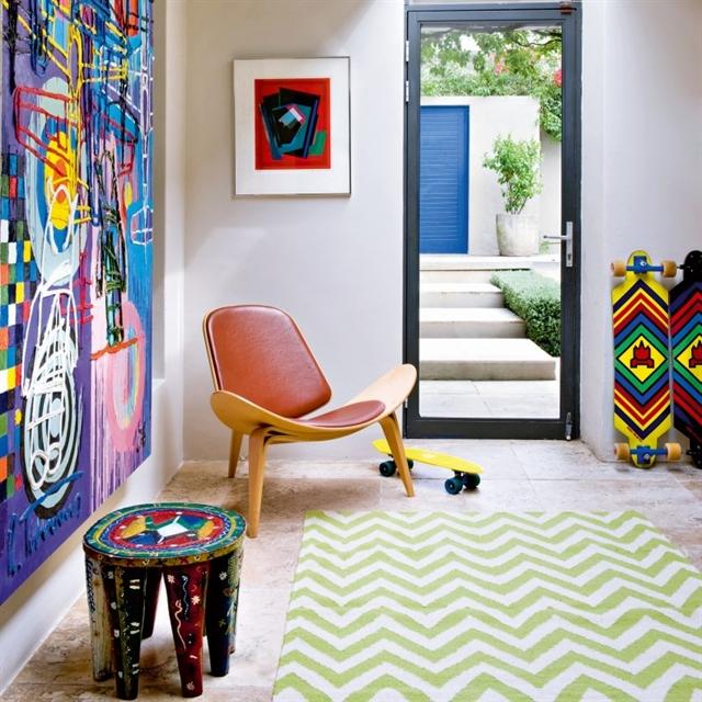 2 popart vintage folk fusion apartment interior design kolorowe mieszkanie