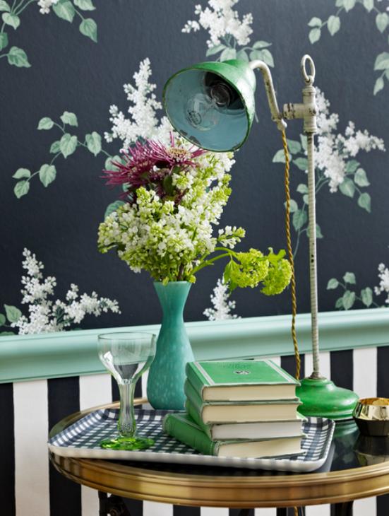 5 black flowers wall decoration interior design czarne kwiaty sciana naklejka tapeta projektowanie wnetrz