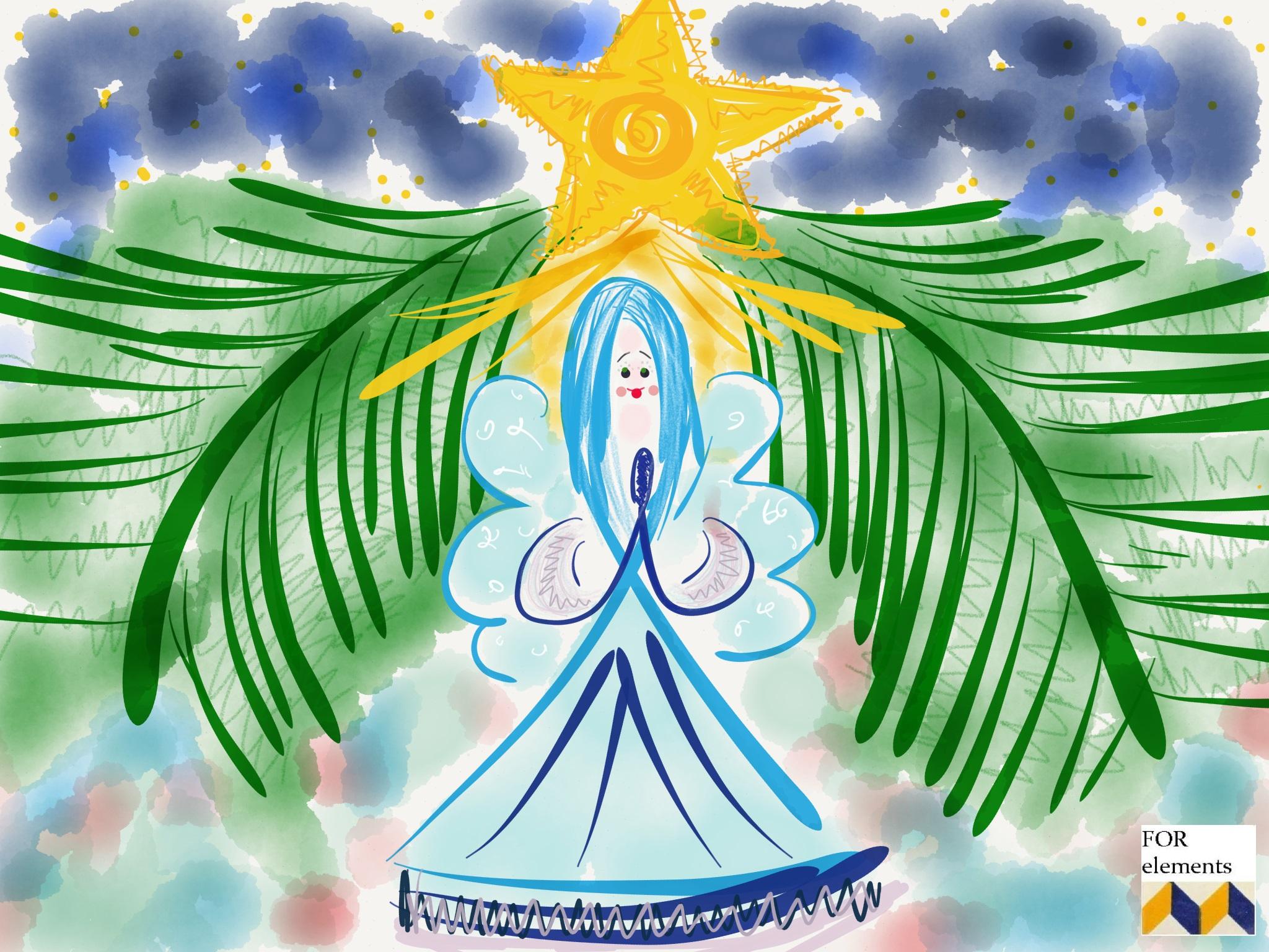 1 aniol swiety mikolaj choinka wigilia kartka swiateczna zyczenia na boze narodzenie xmas handmade postcard christmas wishes home decor interior design ozdoby na swieta projektowanie