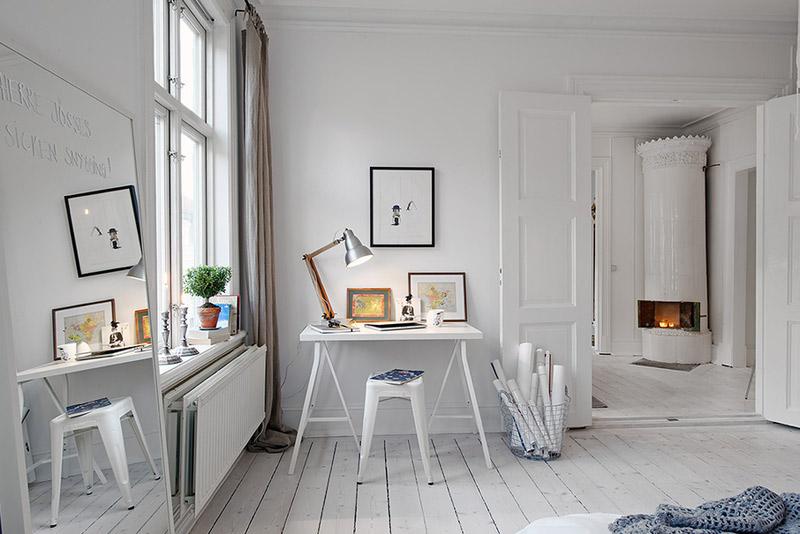 2 scandinavian style apartment in stockholm white interior styl skandynawski biale wnetrze minimalizm w domu minimalist home projektowanie wnetrz interior design