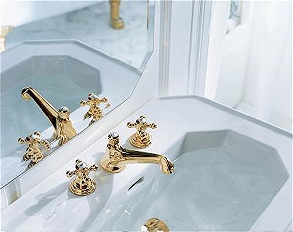 10 Adlon zloty kran golden fitting kludi balance biala armatura lazienka white faucet bathroom projektowanie wnetrz interior design minimalizm nowoczesne mieszkanie