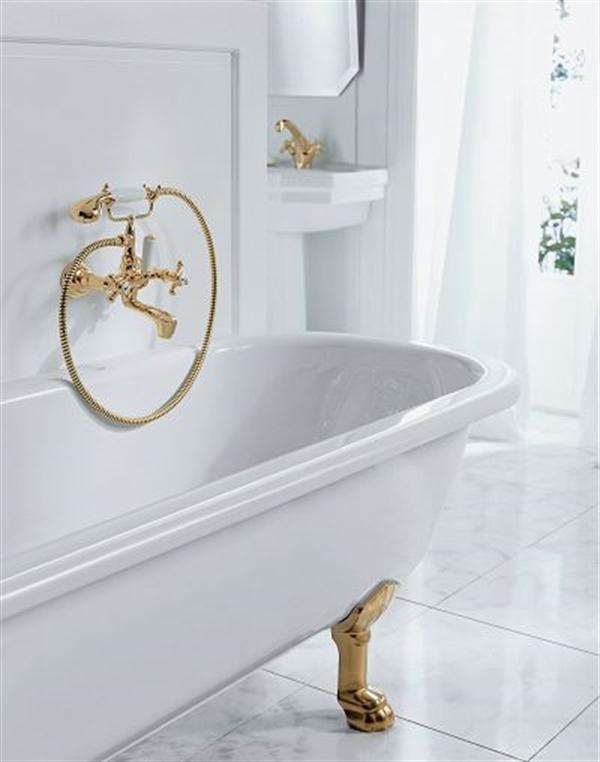 12 Adlon zloty kran golden fitting kludi balance biala armatura lazienka white faucet bathroom projektowanie wnetrz interior design minimalizm nowoczesne mieszkanie