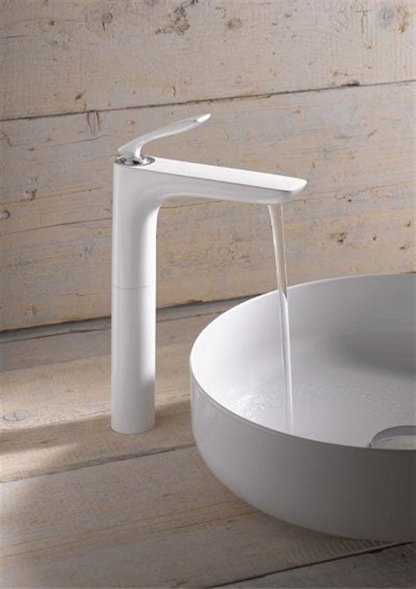 5 kludi balance biala armatura lazienka white faucet bathroom projektowanie wnetrz interior design minimalizm nowoczesne mieszkanie
