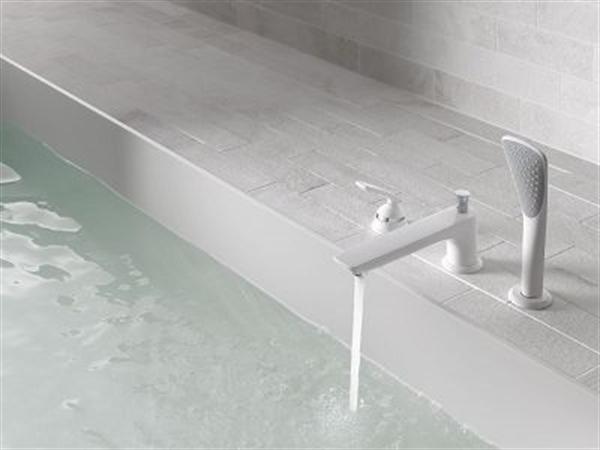 6 kludi balance biala armatura lazienka white faucet bathroom projektowanie wnetrz interior design minimalizm nowoczesne mieszkanie