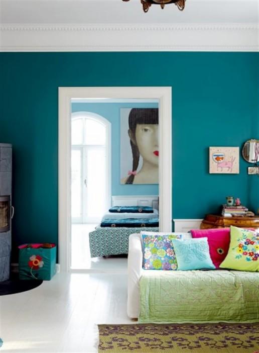 1 Charlotte Gueniau interior design home decorating residential colorful apartment kolory w mieszkaniu skandynawia mieszanie stylow w domu projektowanie wnetrz