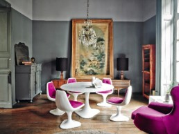 1 Mexico Dirk Jan Kinet architectural digest interior design shabby apartment classic style fusio projektowanie wnetrz styl klasyczny living room duzy pokoj salon vintage