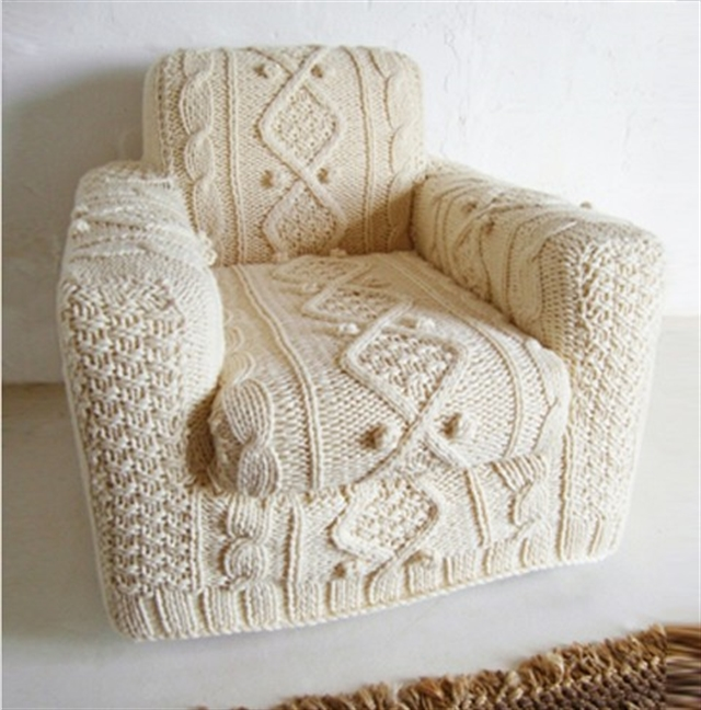15 knit trend woolen covering furniture knitting home ideas home decor interior design welniany fotel robotki reczne diy