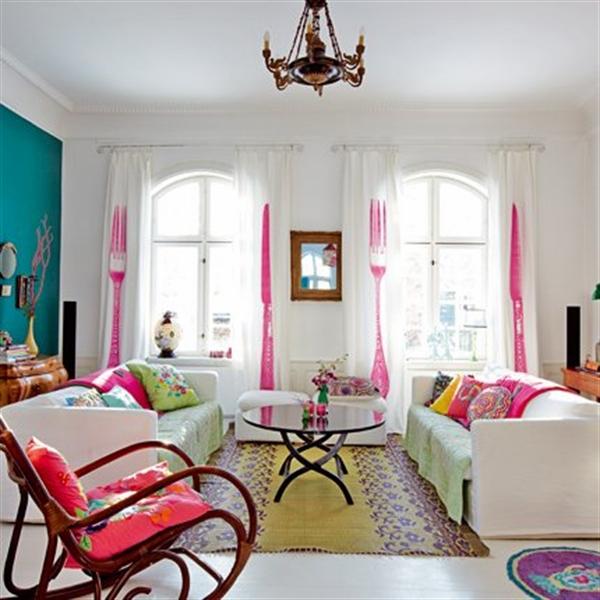 2 Charlotte Gueniau interior design home decorating residential colorful apartment kolory w mieszkaniu skandynawia mieszanie stylow w domu projektowanie wnetrz
