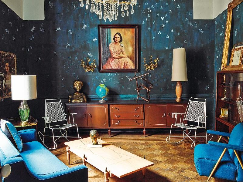 4 Mexico Dirk Jan Kinet architectural digest interior design shabby apartment classic style fusio projektowanie wnetrz styl klasyczny living room duzy pokoj salon vintage
