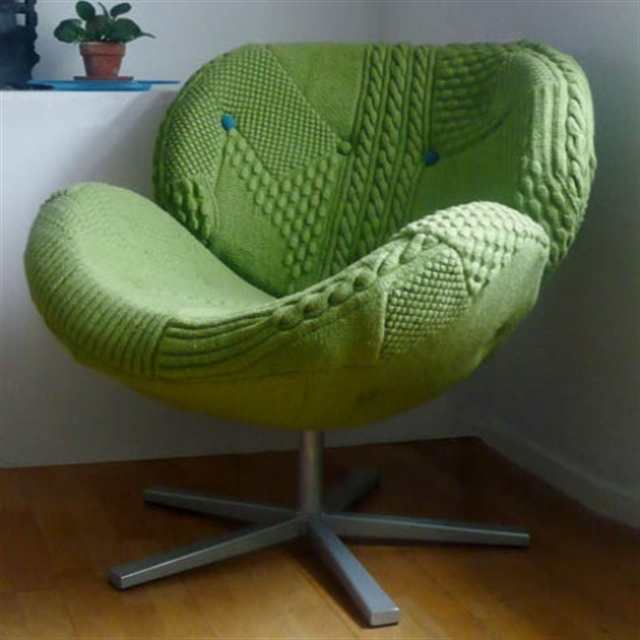 4 knit trend woolen covering furniture knitting home ideas home decor interior design welniany fotel robotki reczne diy