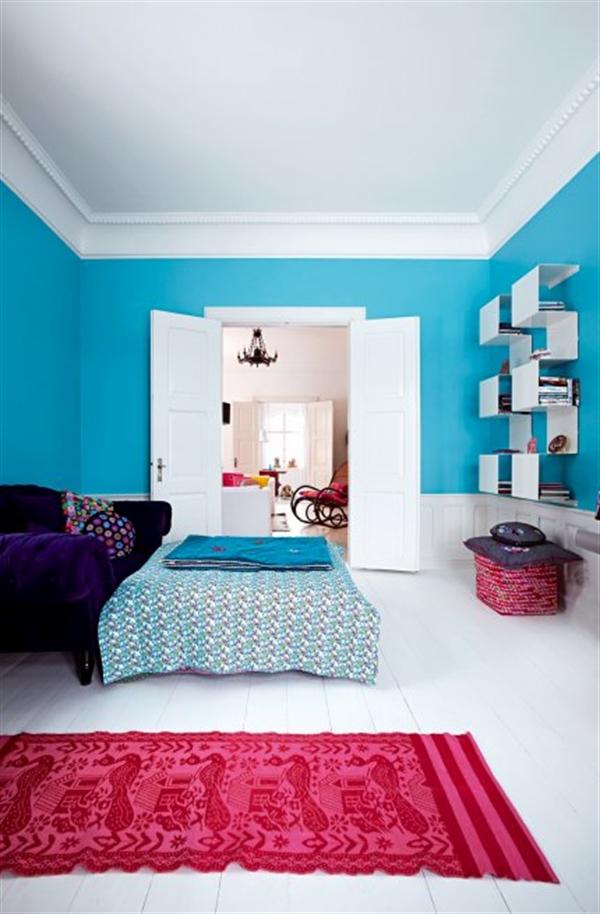 6 Charlotte Gueniau interior design home decorating residential colorful apartment kolory w mieszkaniu skandynawia mieszanie stylow w domu projektowanie wnetrz