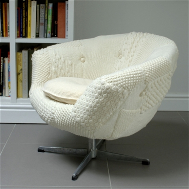 6 knit trend woolen covering furniture knitting home ideas home decor interior design welniany fotel robotki reczne diy
