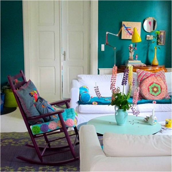 9 Charlotte Gueniau interior design home decorating residential colorful apartment kolory w mieszkaniu skandynawia mieszanie stylow w domu projektowanie wnetrz