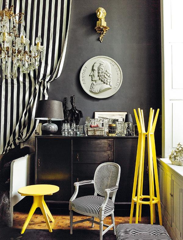 9 Mexico Dirk Jan Kinet architectural digest interior design shabby apartment classic style fusio projektowanie wnetrz styl klasyczny living room duzy pokoj salon vintage