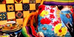 1 melli mello styl meksykanski wnetrze boho kolorowe kafelki meksykanskie plytki projektowanie wnetrz interior design mexican style santa fe home colorful tiles serape