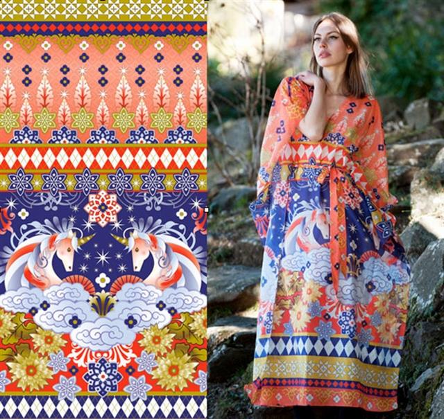 13_Catalina_Estrada ethnic wallpaper interior design etniczne wnetrza styl boho