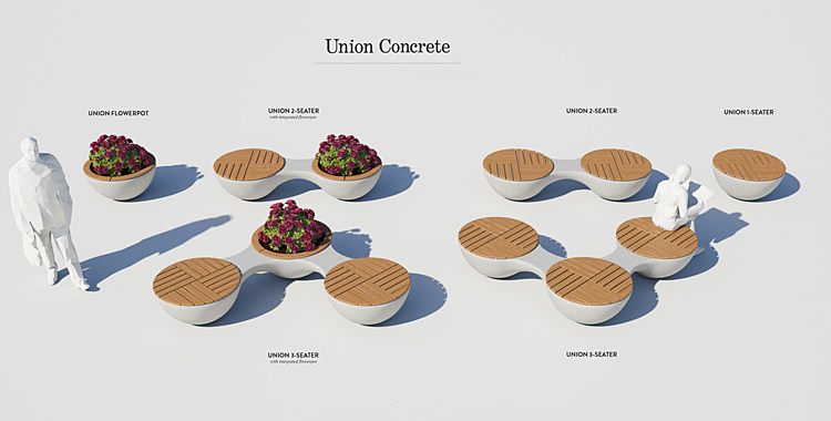 20_UnionConcrete_jangirmaddadi.se furniture for social events interior design funny chairs living room nietypowe meble wersalka meble do salonu