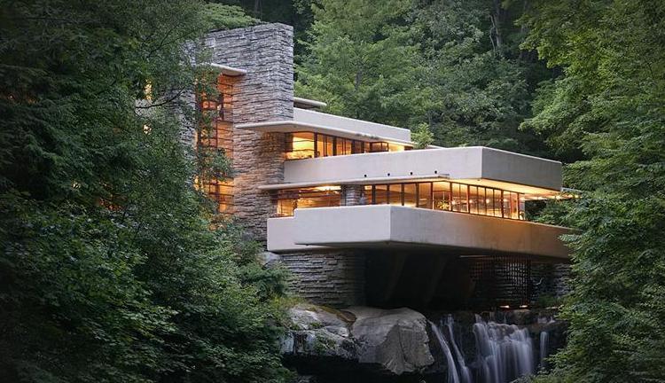 21 Fallingwater Frank Lloyd Wright norway juvet landscape hotel norwegian architecture interior design niezwykle wnetrza styl skandynawski