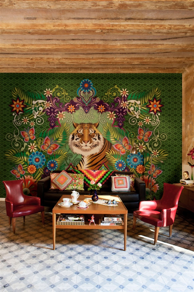 5_Catalina_Estrada ethnic wallpaper interior design etniczne wnetrza styl boho
