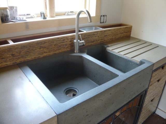 6 concrete kitchen sink industrial interior design beton architektoniczny minimalizm betonowy zlew