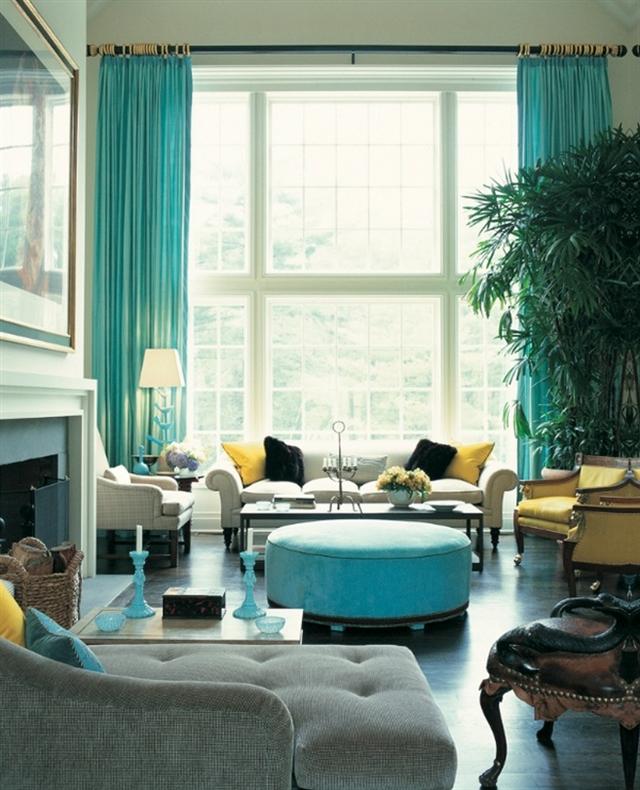 6 turquoise home ideas interior design colorful walls projektowanie wnetrz kolory w mieszkaniu niebieksie sciany alfresco porch decoration